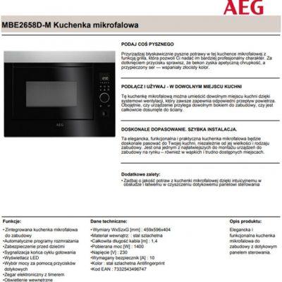 AEG MBE2658D-M