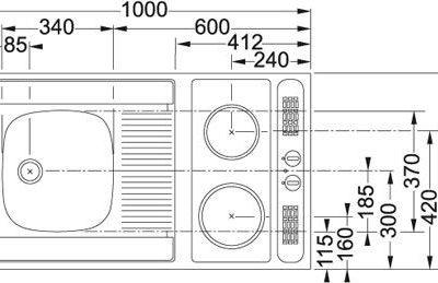 Franke KKN 411-1000 (szafka+zlewozmywak+płyta grzejna) 104.0190.527